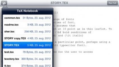Die App Tex Writer enthält wohl einen DOS-Emulator.