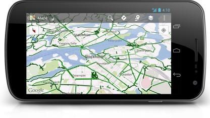 Fahrradfahren in Stockholm mit Google Maps für Android