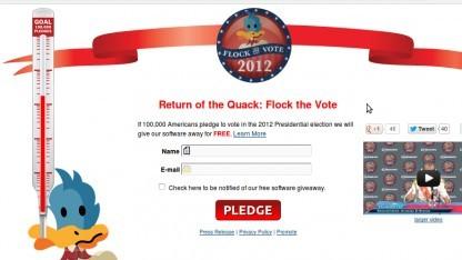 Wenn 100.000 US-Bürger sich verpflichten, zur Wahl zu gehen, gibt es Crossover 24 Stunden lang kostenlos.