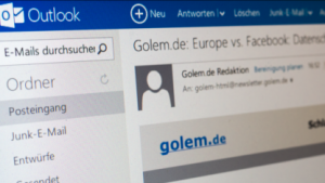 Outlook.com erinnert an Windows 8