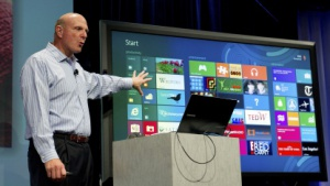 Microsoft-Chef Steve Ballmer präsentiert Windows 8.