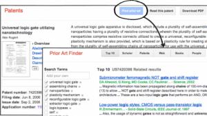 Prior Art Finder für Google Patents