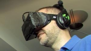 Golem.de-Redakteur probiert Oculus Rift aus.