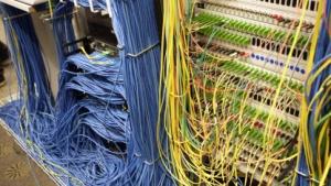 Ethernet-Verkablung am Schweizer EPFL