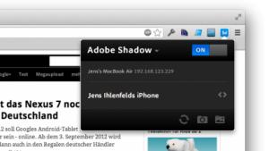 Adobe Shadow nutzt Weinre.