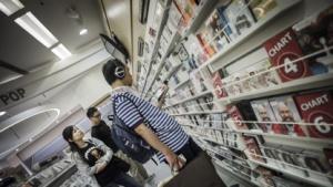 Musik-CD-Kunde in Hongkong