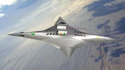 Supersonic Bi-Directional Flying Wing: zwei Paar Tragflächen