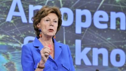 Neelie Kroes, verantwortlich für die Digitale Agenda der EU