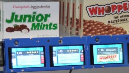 Digitale Preisschilder mit Touchscreen und Atom-CPU