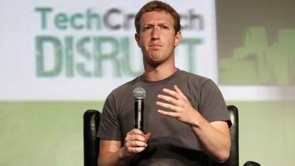 Facebook-Chef Mark Zuckerberg am 11. September 2012 auf der Techcrunch Disrupt Conference