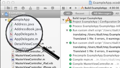 J2ObjtC übersetzt Java-Code in Objective C.