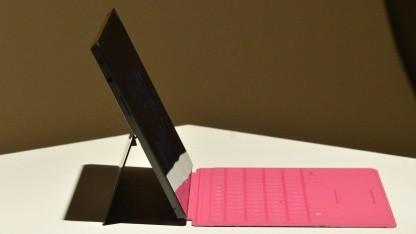 Microsofts Surface während einer Pressekonferenz am 18. Juni 2012 in Hollywood, Kalifornien