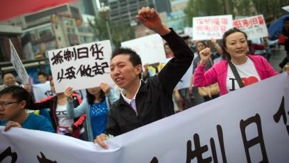 Antijapanische Demonstration in Chengdu: Wem gehören die Inseln?