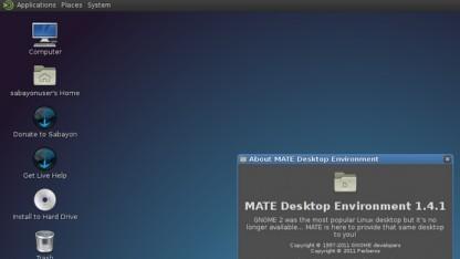 Sabayon 10 unterstützt offiziell den Mate-Desktop.