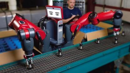 Roboter Baxter lernt durch Vorführen