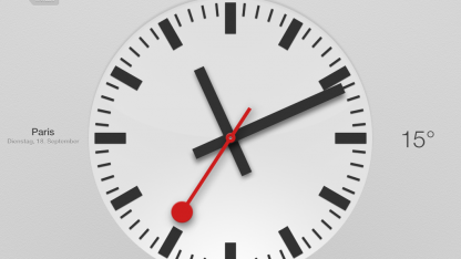Apple soll die Schweizer Bahnhofsuhr als Vorlage für seine Uhren-App in iOS 6 für das iPad kopiert haben.