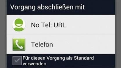 NoTelURL fängt Tel-URLs ab.