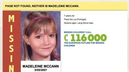 Neuer Einsatzzweck: 404-Fehlerseiten weisen auf vermisste Kinder hin.