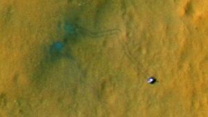 Curiosity, fotografiert von der Marssonde MSR