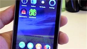 Firefox OS auf einem Smartphone von ZTE