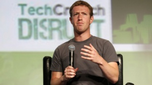 Facebook-Chef Mark Zuckerberg am 11. September 2012 auf der Techcrunch Disrupt Conference