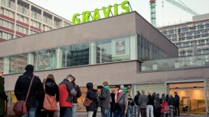 Gravis-Filiale zum iPad-3-Start am Ernst-Reuter-Platz in Berlin