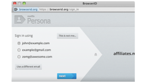 Login mit Persona alias BrowserID