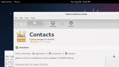 Das Software Center unter Fedora