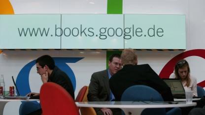 Google auf der Frankfurter Buchmesse 2006: Autoren sind nicht beteiligt.