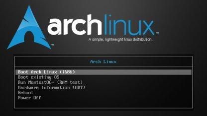 Arch-Linux-Medien mit Systemd
