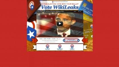 Wikileaks: rotes Spendenbanner statt GI-Files