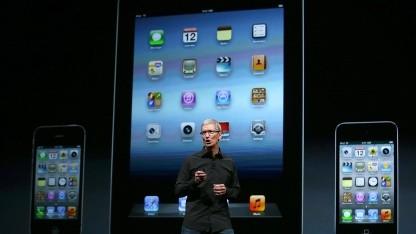 Tim Cook bei der Vorstellung des iPhone 5