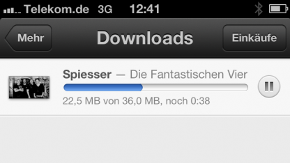 Apples iTunes Match lädt Musik im Mobilfunknetz weiter - auch wenn es das nicht darf.