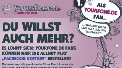 Allnet Flat Facebook Edition für monatlich 20 Euro