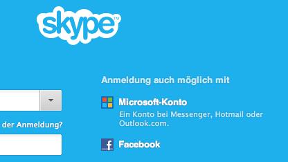 Skype 6.0 - Anmelden nun auch mit Microsoft- und Facebook-Account
