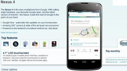 Nexus 4 bei Carphone Warehouse