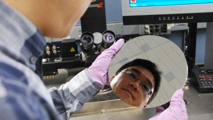 Wafer mit Kohlenstoff-Nanoröhren