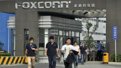 Foxconn-Arbeiter im Juli 2012