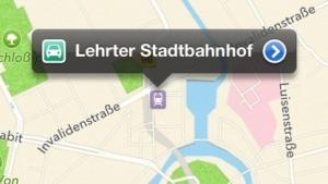 In Apples Kartenanwendung heißt der Berliner Hauptbahnhof weiterhin Lehrter Stadtbahnhof.