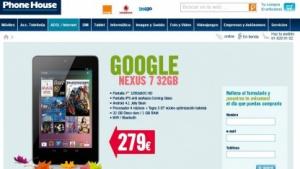 Phonehouse bietet das Nexus 7 mit 32 GByte für 279 Euro an.