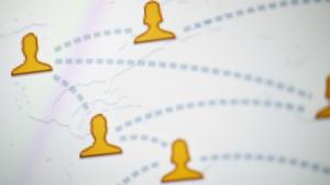 Ein Teil des Facebook-Logos