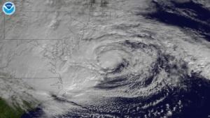 Der Hurrikan Sandy am 29. Oktober vor Maryland und Virginia