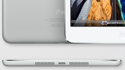 Unterseite des iPad Mini mit zwei Öffnungen