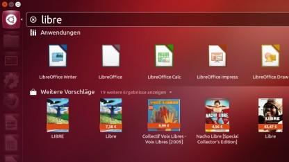 Die Amazon-Suche bei Ubuntu 12.10