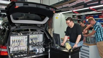 Messfahrzeug für den Connect-Netztest 2012