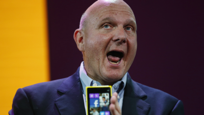 Microsoft-Chef Steve Ballmer beim Marktstart von Windows Phone 8