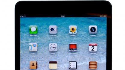 Apples neues Tablet verzichtet auf einen Rahmen für die Finger.