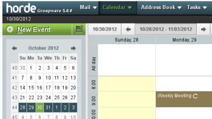 Die Groupware Horde Webmail Edition 5.0