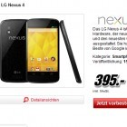 Android-Smartphone: Nexus 4 ist bei Media Markt teurer als bei Google