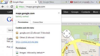Website-Berechtigungen in Chrome 23